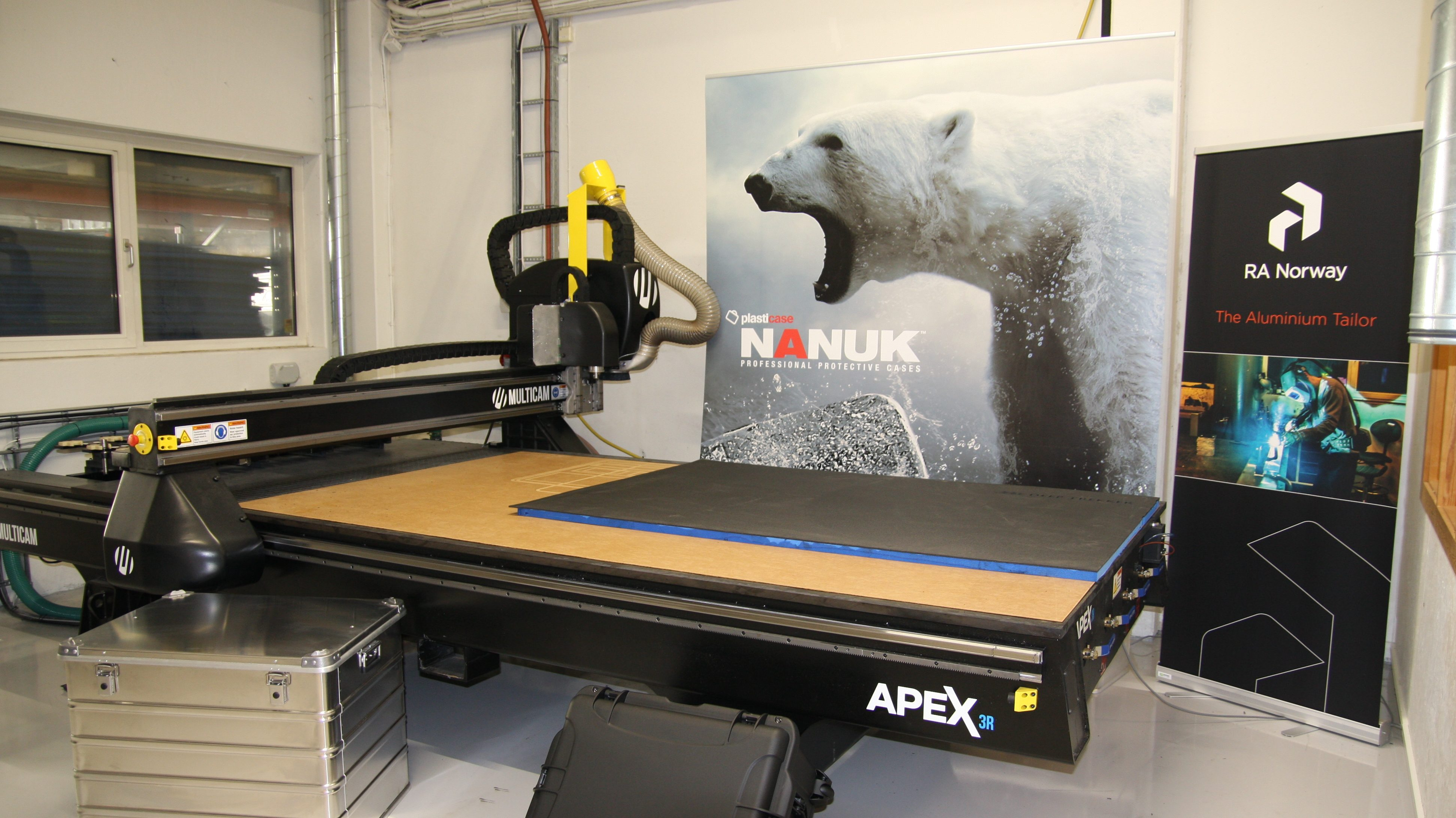 New CNC cutter in place